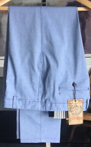 """Tommy Hilfiger Blue Cotton Chino Style Summer Trousers BNWT Size W38"""" L 32"""""""