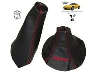 """Gear and Handbrake Gaiter For Mazda RX-7 1992-02 Leather """"RX-7"""" Red Embroidery"""