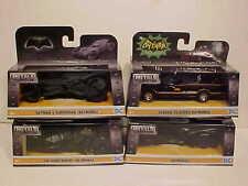 4 pack BATMAN 1966, 1989, 2009, 2016 Batmobile Diecast 1:32 Jada Toys 5 inch