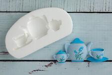 Stampo in silicone, Teiera, Tea Pot Set, Cibo Grade, ellam Sugarcraft M0020