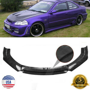 USA Carbon Fiber Look Front Bumper Lip Splitter For Honda Civic 1996-2003