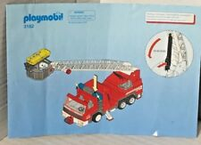 Playmobil Fire Appliance Engine Tender 3182 Instructions