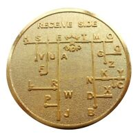 Cw Morse Code Decoder Chart Medal Commemorative Metal Coin Gift Gold E6L1 T9