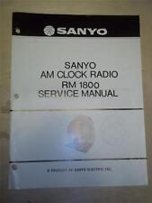 Sanyo Service Manual~RM-1800 Clock Radio~Original~Repair