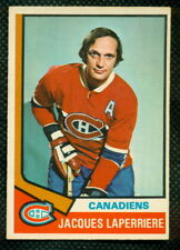 1974 75 OPC O PEE CHEE 202 JACQES LAPERRIERE EX-NM MONTREAL CANADIENS HOCKEY CAR