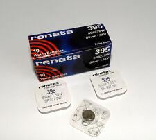 3x Renata 1.55V Watch Battery 395 SR927SW Silver Oxide Swiss Made LR57 AG7 395A