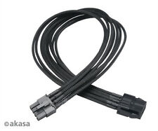 Akasa Flexa V8 40cm VGA Power Extension Cable 8-pin Female to 8 or 6-pin Male
