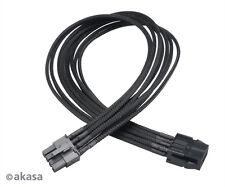 Akasa FLEXA V8 40 cm VGA POWER EXTENSION CABLE 8 PIN Femmina a 8 o 6 PIN MASCHIO