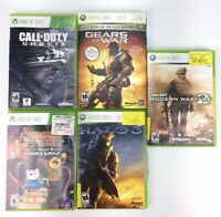 Lot of 5 Xbox 360 Call of Duty Ghosts Modern Hears Of War Halo 3 Gears Of War 2