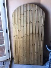 Woolley Design Wooden Arched Top FLB Side Garden Curved Timber Gate.