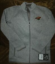 Minnesota Wild fleece jacket! YOUTH small (8) NEW with Tags NHL gray winter gear