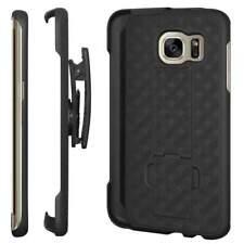Samsung Galaxy S7 Edge Belt Clip Shell Holster Phone Case Kickstand Cover Combo