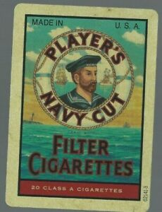 Vintage Swap Playing Card  Advertising Filter Cigarettes NAVY CUT Old Wide