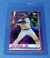 2019 Topps Chrome Ronald Acuna Jr. Pink Refractor All Star Rookie Cup Braves