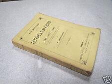 LETTRE A D ALEMBERT SUR LES SPECTACLES JJ ROUSSEAU LEON FONTAINE 1889 *