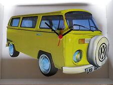 GIALLO BAY DESIGN CLASSICO VW Camper Van Wall clock.new & BOXED