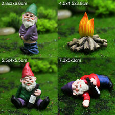 4Pcs Fairy Garden Gnomes My Little Friend Drunk Gnome Dwarfs Statue Gifts Decor
