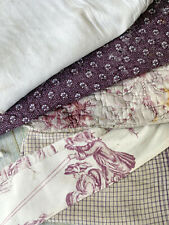Antique Vintage French fabrics materials Crafting Project Bundle Toile Quilt