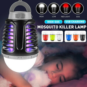 Bulb Mosquito Killer Fly Bug Zapper Household Camping SMD 2835 LED Nig
