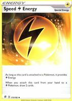 173/192 Energy Speed Electric Uncommon Card Pokemon Sword and Shield Rebel Clash