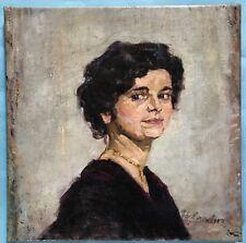Peinture huile portrait portrait fille jeune femme Munich école Hermann Groeber ~ 10