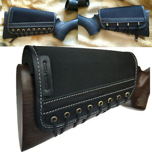 US Black Rifle Recoil Pad Buttstock Cheek Rest Pad Left & Right Handed Leather