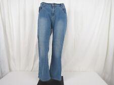 Steve & Barrys Women Jeans Size 14 S boot Leg Low Rise Light Denim