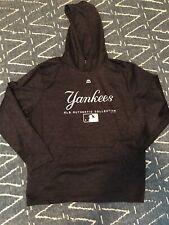 Majestic New York Yankees Hooded Sweatshirt Size XL Navy Blue MLB Authentic