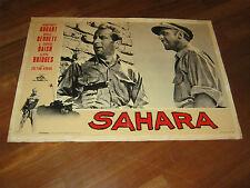 FOTOBUSTA,1960,SAHARA Zoltán Korda. Humphrey Bogart,GUERRA WAR,Bennett