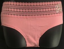 Victoria's Secret Pink Dot Lace Trim Hipster Large (170/ 80A)