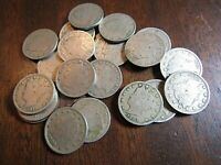20 RANDOM LIBERTY V NICKELS OUT OF A PACKAGE OF 200 1900-1912 BETTER CONDITION