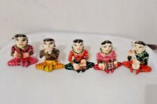 HANDMADE CARVED HAND PAINTED WOODEN SHOWPIECE (BABLA SET)  5 Pcs SET