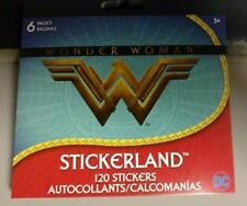 New Dc Comics Wonder Woman Stickers Sheets Party Favors 120 Stickers Total 6 Pgs