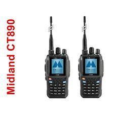 2 PZ MIDLAND RADIO CT 890 RICETRASMITTENTE DUAL BAND VHF UHF RADIO FULL DUPLEX