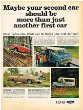 Vintage 1969 Magazine Ad Ford Trucks All Models Do What Car Can't / General Tire