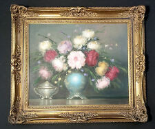 Wonderfully opulent floral still life. Orig. Oil Painting Hungary. kolozsvary kamillo