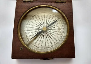 Antique Francis Barker & Son Circa 1865 London Pocket COMPASS