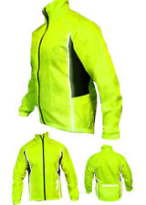CYCLING JACKET HIGHLY VISIBLE HI VIZ WINDPROOF WATERPROOF BREATHABLE RIDING CYC