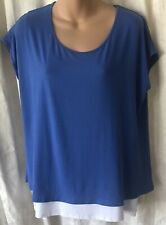 Milk Nursingwear Women's Blue & White Short Sleeve Shirt SZ L NWT Maternity Wear
