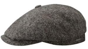 Stetson M 57cm Wool Herringbone Newsboy 8/4 Cap Peaky Blinders Great Gatsby NWT