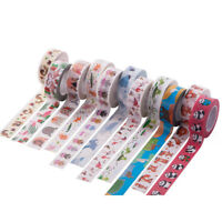 10M DIY Washi Paper Sticker Masking Adhesive Decorative Tape Scrapbook + Box