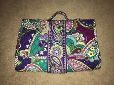 Vera Bradley Baby Diaper Changing Pad Purple Green Heather. Wipes Holder