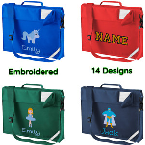 Personalised Book Bag ,Embroidered Junior Bookbag with strap