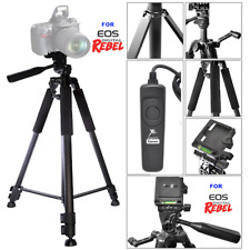 "60"" PROFESSIONAL TITANIUM ALLOY TRIPOD +WIRED REMOTE FOR CANON EOS M3 M5 M50"