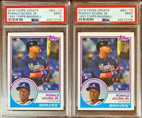PSA 9 MINT 2018 Topps Update 1983 RONALD ACUNA Jr Rookie RC #83-13 Lot Of 2
