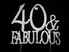 40th Birthday Cake Topper 40 & Fabulous Rhinestone