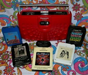 Panasonic 8 Track Red Stereo Portable Swiss Cheese RS-833S Watch Video!