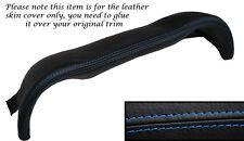 BLUE STITCH DASHBOARD BINNACLE LEATHER SKIN COVER FITS MERCEDES W113 SL