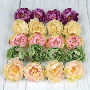 10-100P 6cm Artificial Peony Silk Flower Heads Bouquet Fake flower Wedding Decor
