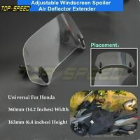 Motorcycle Clip-On Clear Windshield Spoiler Deflector Screen Extender Fit Honda